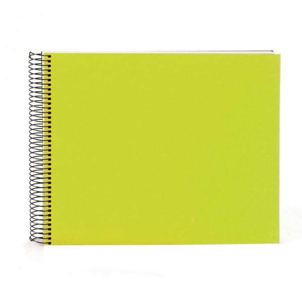 Spiralalbum apfelgrün mit weißen Seiten