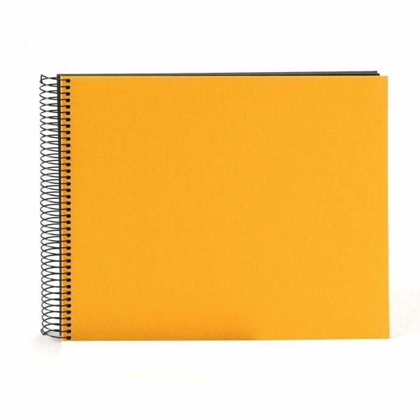 Spiralalbum gelb mit schwarzen Seiten