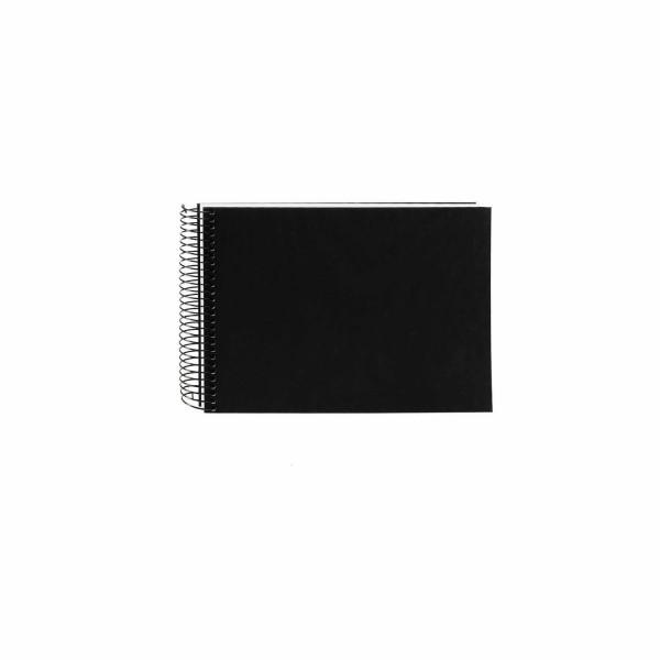 Spiralalbum schwarz mit weißen Seiten