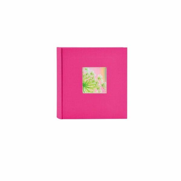 Fotoalbum Leinen Bella Vista pink