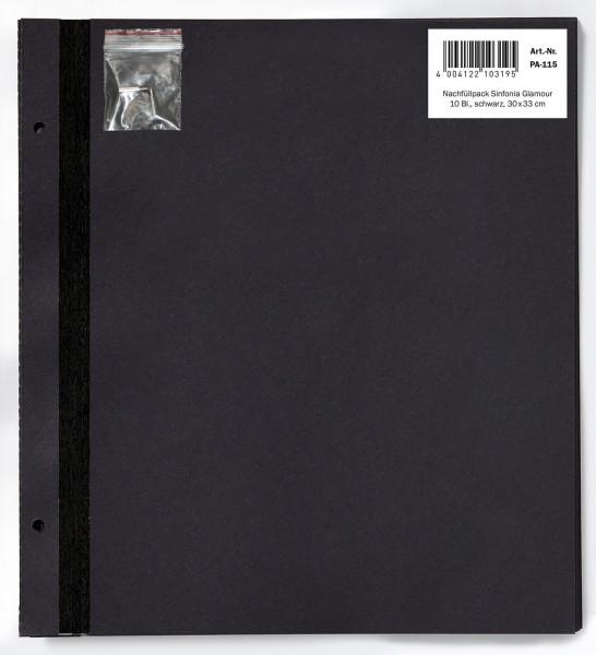 Nachfüllpack Sinfonia Glamour, 10 Blatt schwarz, 30x33 cm