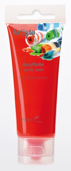 Acrylfarbe, rot 1 Tube je 75 ml