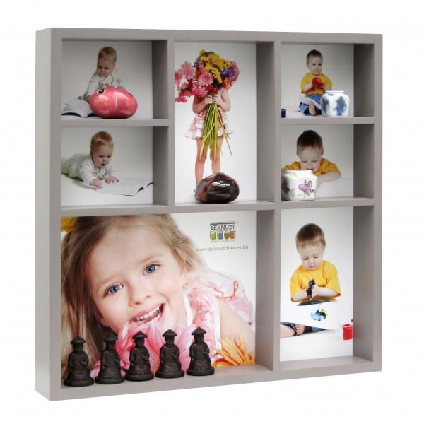 Setzkasten SEED BOX für 7 Fotos taupe