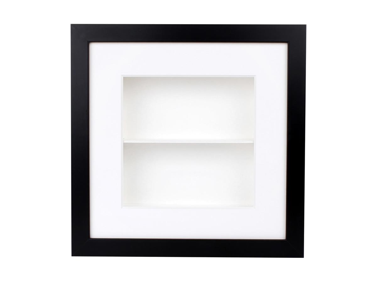 rahmen box mit holzrahmen schwarz und kasten weiss 2 f cher. Black Bedroom Furniture Sets. Home Design Ideas