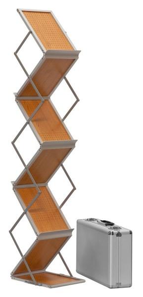 Falt Prospektständer Holz, doppelseitig, 6x DIN A4