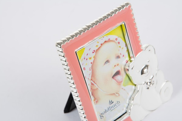Metall Fotorahmen Sweet Bear - pink