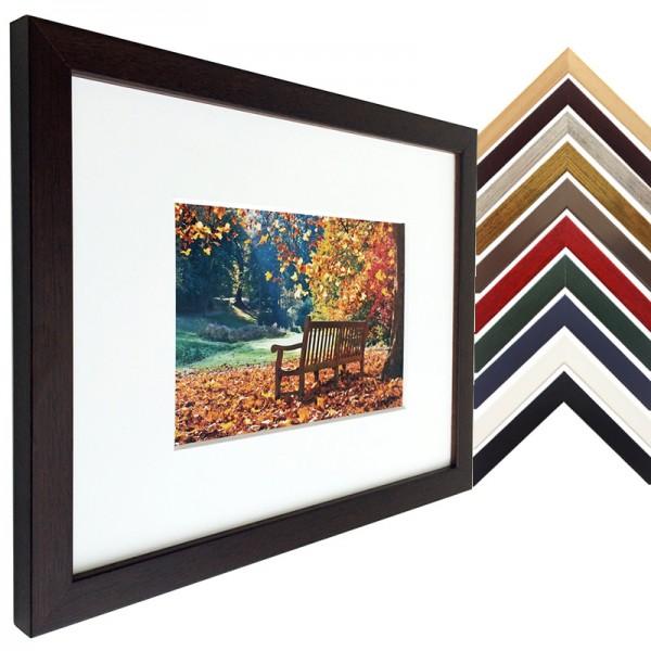 Holz Bilderrahmen Top Pro S mit Passepartout