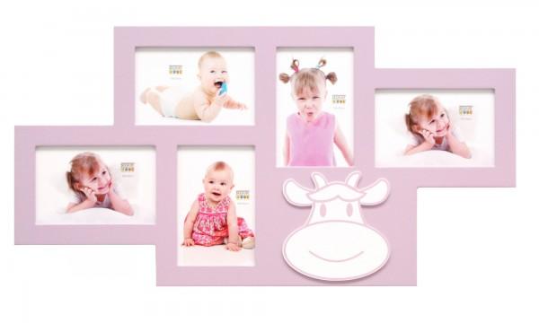 Collage Bilderwandrahmen Eline rosa