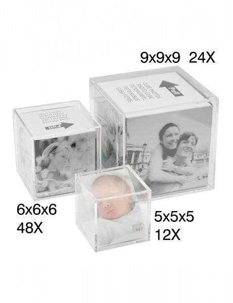 Acryl Fotowürfel Transparent