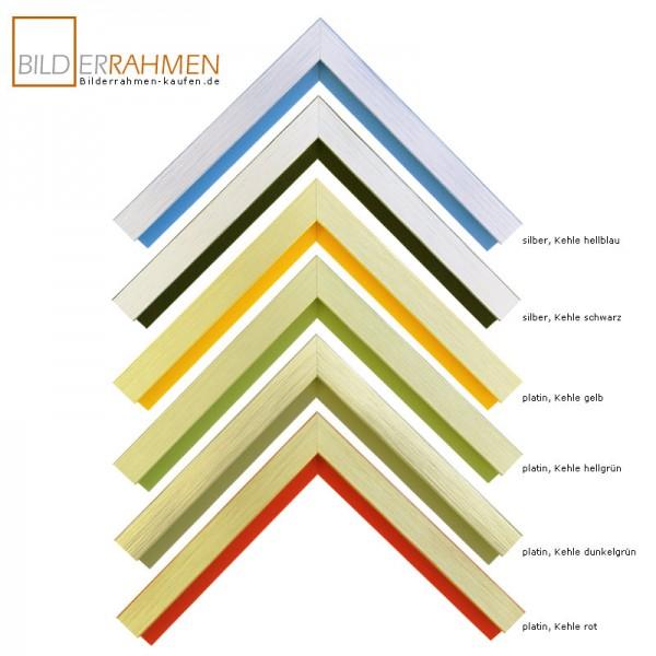 Holz Bilderrahmen Loop Profil 0330 silber/ platin