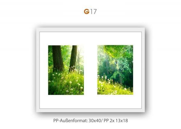 Galerie Passepartout G17 - 30x40/ PP 2x 13x18 cm