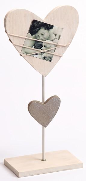Portraitrahmen Bella Herzform mit Standfuß für 1 Foto 7x7cm