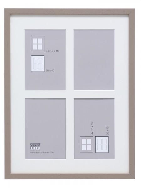 Holz Galerierahmen DAAN für 4 Fotos in taupe