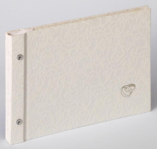 Buchschraubenalbum Sinfonia Wedding Music, weiß, 26,5x19 cm
