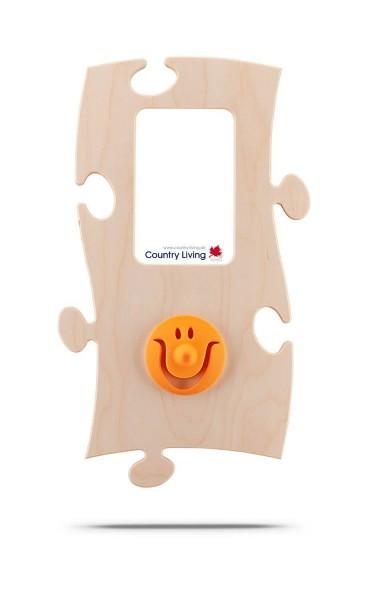 Puzzles+ Garderobe/ Rahmen Smiley Sam/ 1 Foto 10x15 cm