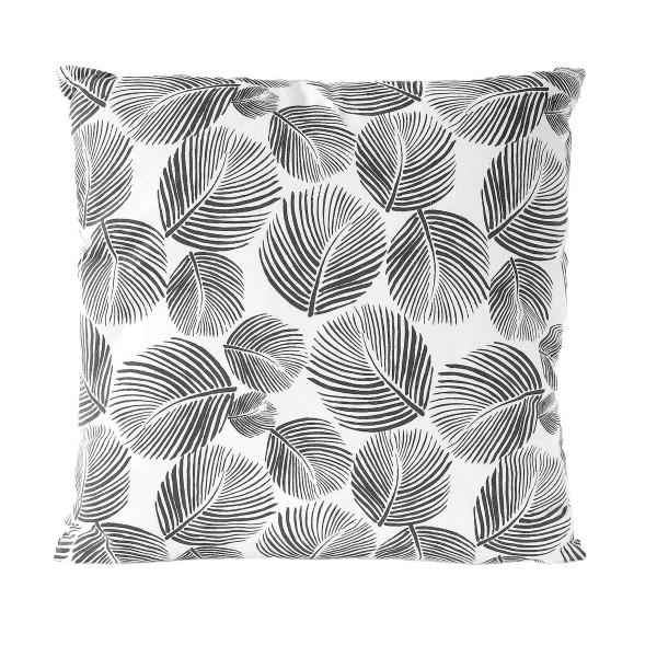 Kissen LEAVES - Gray Pinstripe 45x45 cm