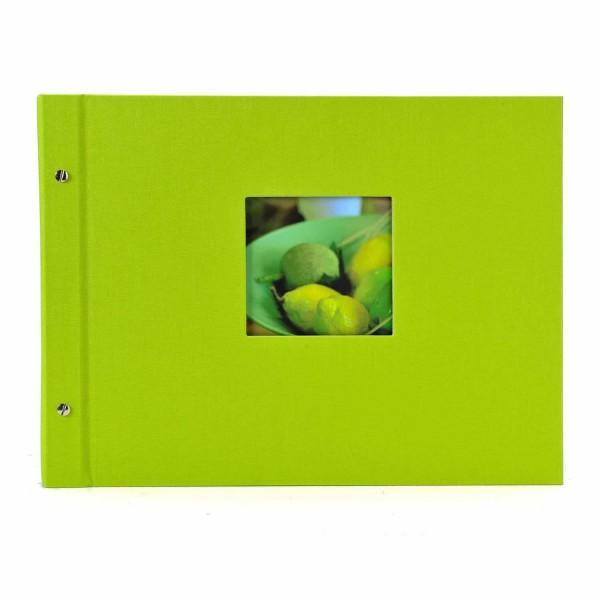 Schraubalbum grün mit weißen Seiten