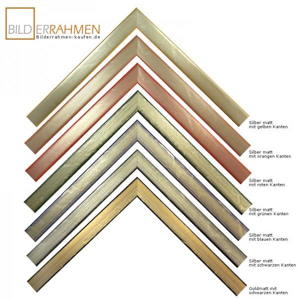 Holz Bilderrahmen Arte Profil 0205 gold/ silber mit bunter Kante