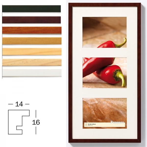 Holz Galerierahmen Peppers inkl. Passepartout