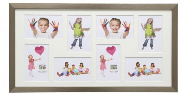 Galerierahmen Louis für 8 Fotos silber
