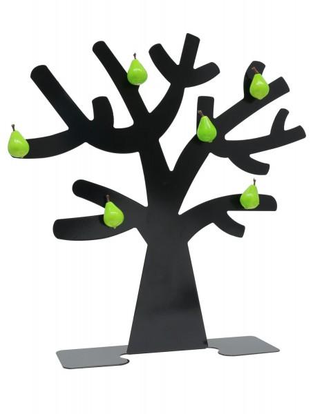 Metall Fotobaum in schwarz mit 6 Birnen Magneten
