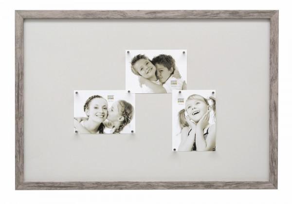 Magnetwand Lucas Grau-Beige mit 10 Magneten