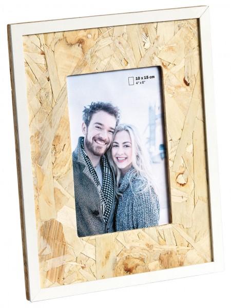 Holz Fotorahmen CHIP natur/ weiss
