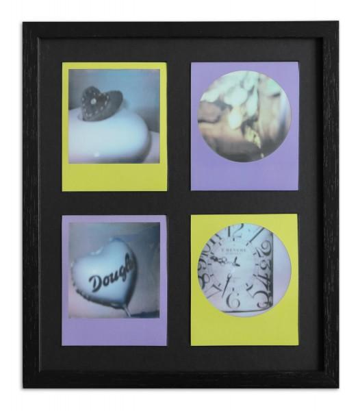 Polaroid Galerierahmen schwarz für 4 Sofortbilder - Typ 600 inkl. Passepartout