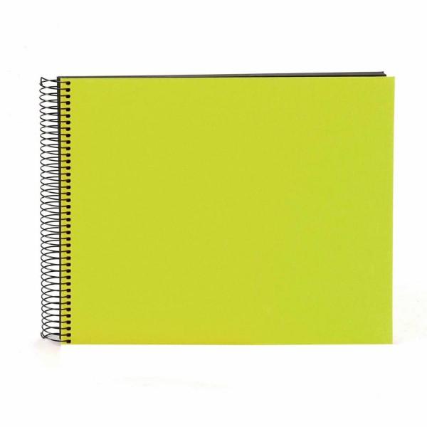 Spiralalbum grün mit schwarzen Seiten