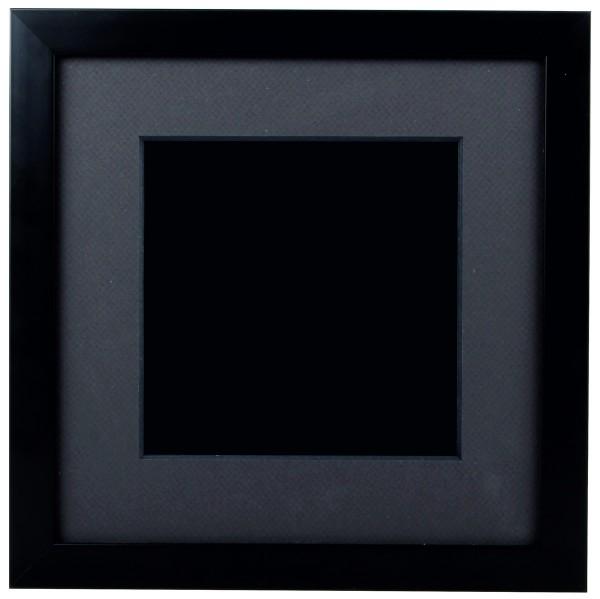 Rahmen Box mit Holzrahmen schwarz und Kasten schwarz