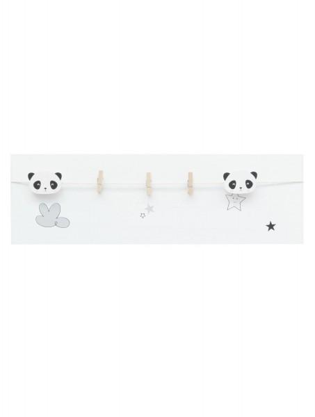 Holz Bilderrahmen Panda mit Wäscheklammer