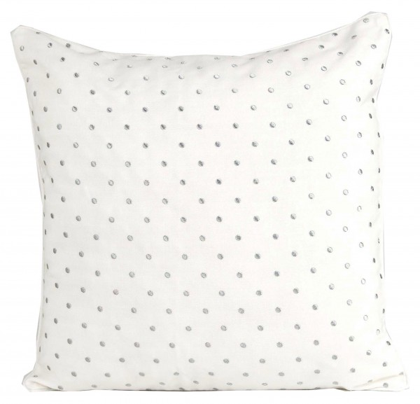 Kissen DAVIS DOT Bright White Silver 50x50 cm