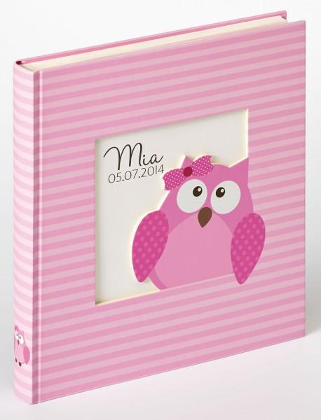 Babyalbum Owlet girl, 28x30,5 cm, rosa
