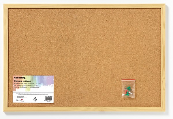 memoboard pinnwand kork holzrahmen natur 40x60 cm bilderrahmen. Black Bedroom Furniture Sets. Home Design Ideas
