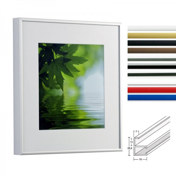 Posterrahmen Alu Quadro in 10 Farben