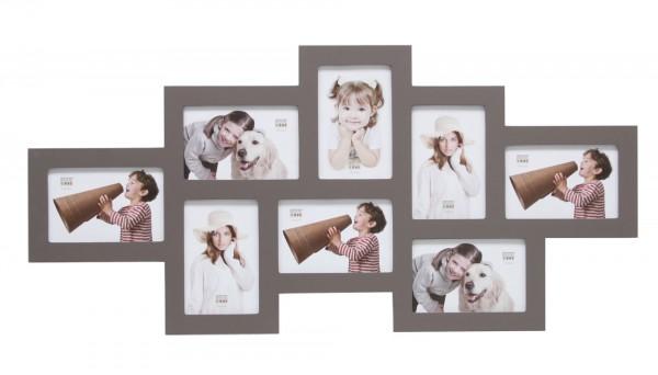 collage bilderwandrahmen lukas taupe bilderrahmen. Black Bedroom Furniture Sets. Home Design Ideas