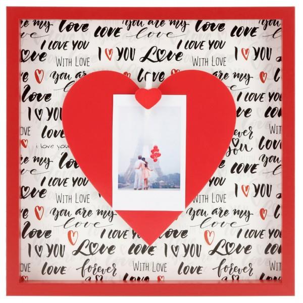 Collage Fotorahmen Love mit Holzklammer