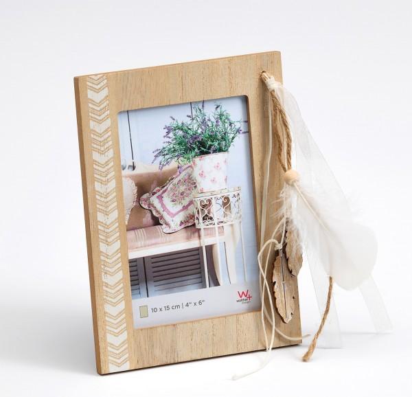Holz Fotorahmen Naturalness Feder für 1 Foto