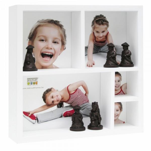 Setzkasten SEED BOX für 5 Fotos weiss