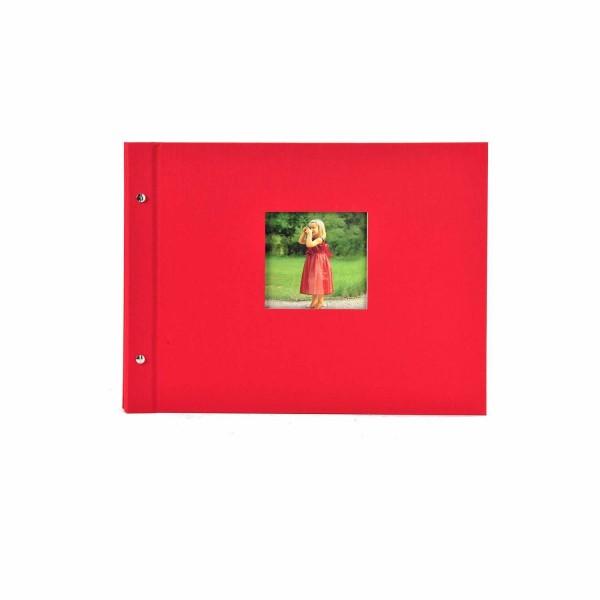 Schraubalbum rot mit weißen Seiten