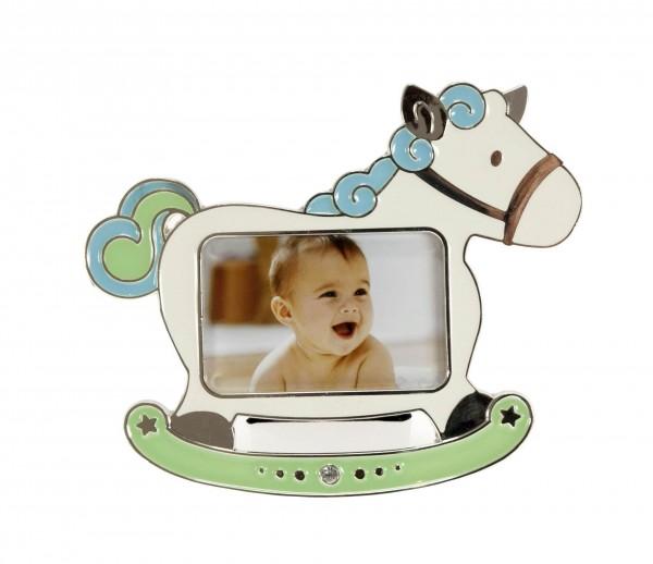 Kinder Fotorahmen Horse blau