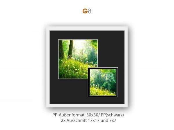 Galerie Passepartout G8 - 30x30/ PP (schwarz) je 1x 17x17/ 7x7 cm