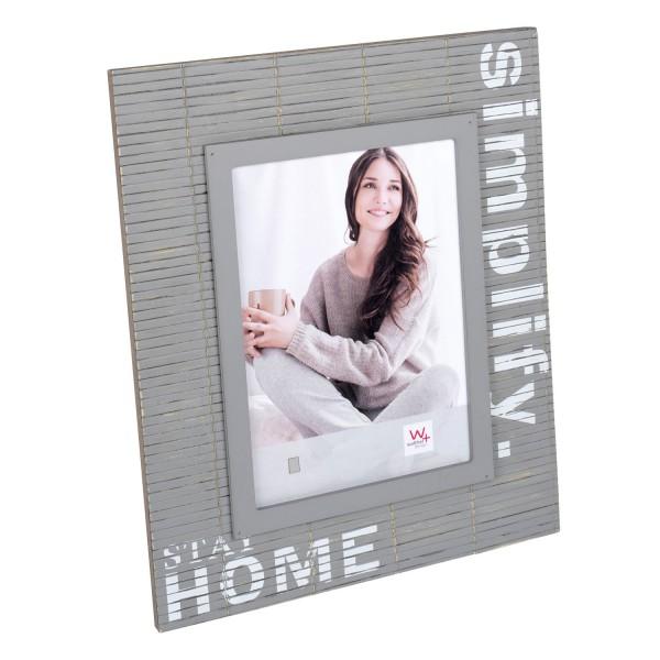 Holz Fotorahmen Simplify grau