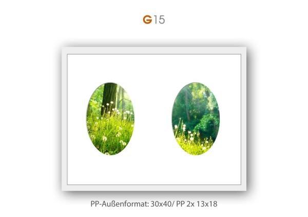 Galerie Passepartout G15 - 30x40/ PP 2x 13x18 cm