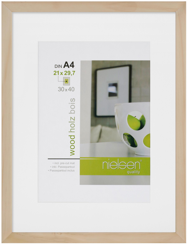 Holz Bilderrahmen Apollo inkl. Passepartout FSC® zertifiziert - 4er ...
