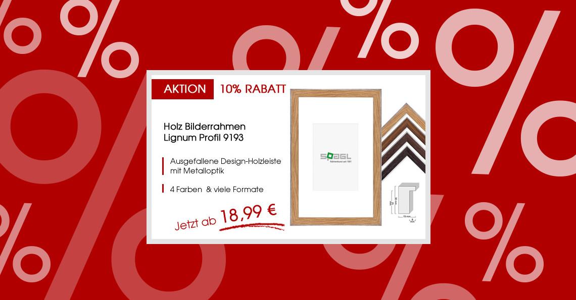 Zwei Welten in einem Rahmen: Lignum Profil 9193 | Bilderrahmen-kaufen.de
