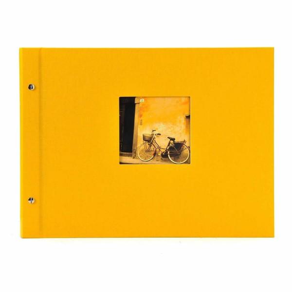 Schraubalbum gelb mit weißen Seiten