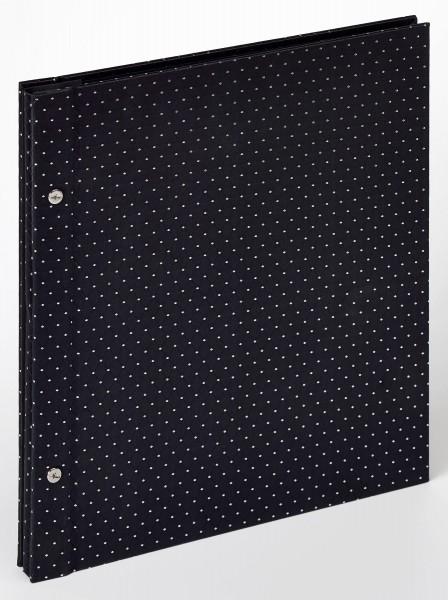 Buchschraubenalbum Sinfonia Glamour, schwarz, 30x33 cm