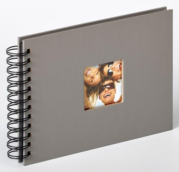 Spiralalbum Fun grau, 23x17 cm