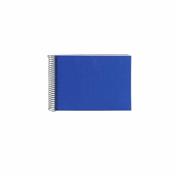 Spiralalbum blau mit weißen Seiten